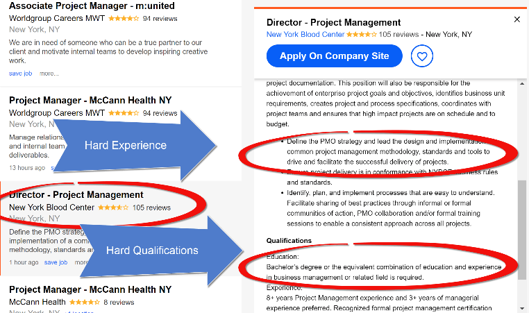 Independent Project Manager searching for job on linkedin