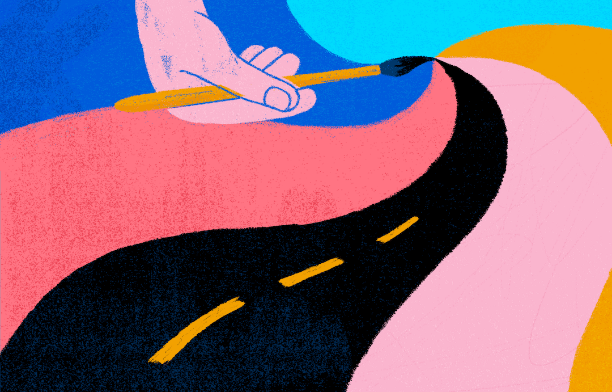 Colorful roadmap for an Independent Project Manager