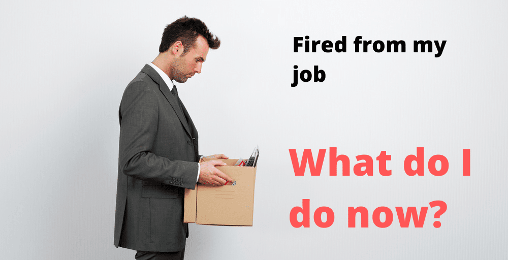 fired from my job what do i do